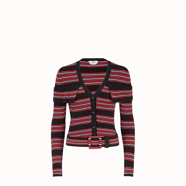 FENDI CARDIGAN - Multicolour wool and cashmere cardigan - view 1 small thumbnail