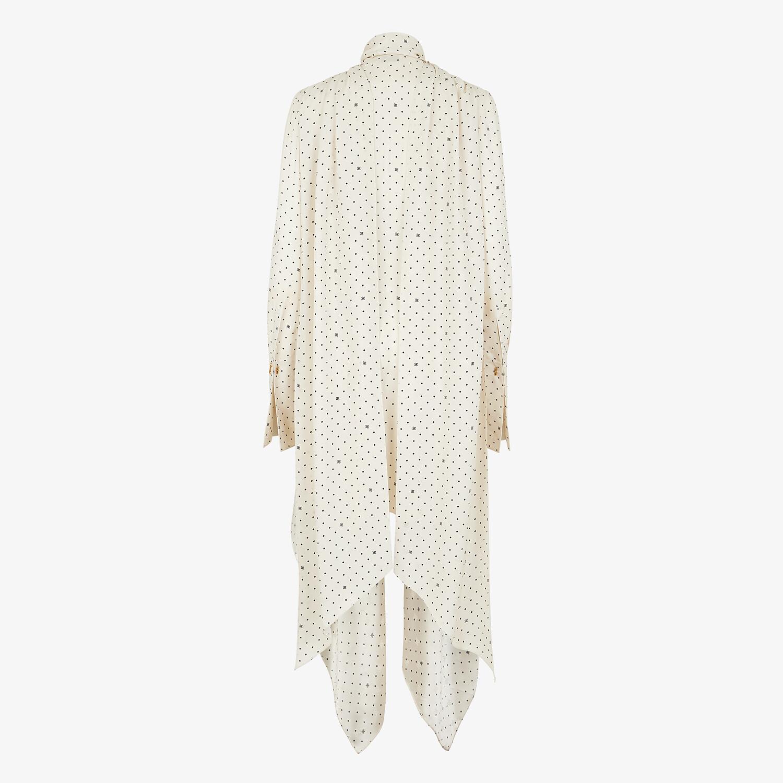 FENDI DRESS - White satin dress - view 2 detail