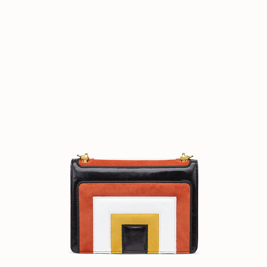 FENDI KAN U - Multicolour leather and suede bag - view 4 detail