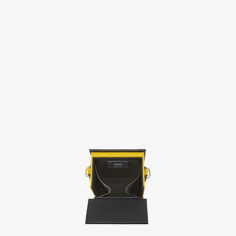FENDI VERTICAL BOX - Yellow lizard bag - view 4 detail