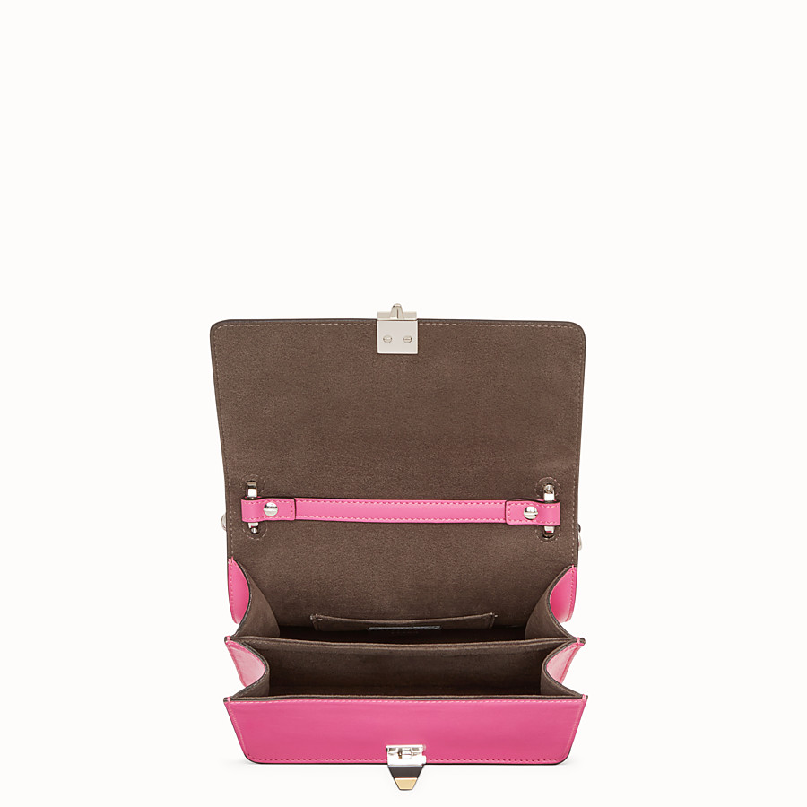 FENDI KAN I SMALL - Fuchsia leather mini-bag - view 4 detail