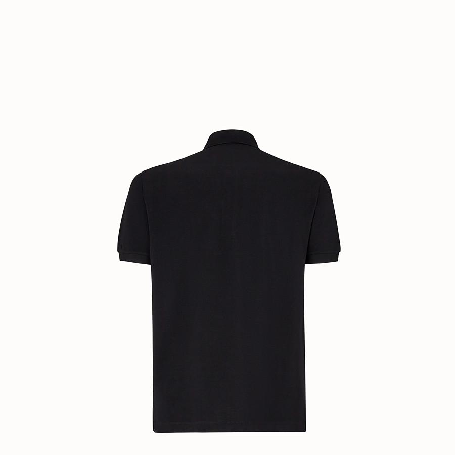 FENDI POLO SHIRT - Black piqué polo shirt - view 2 detail