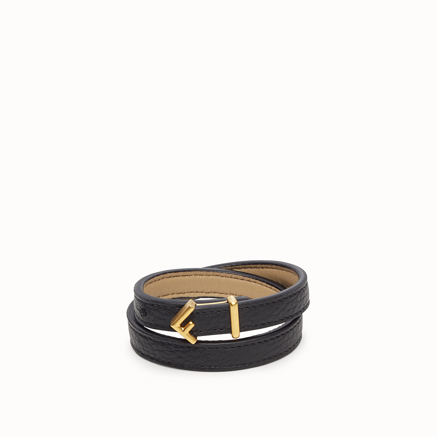 FENDI F DECO BRACELET - Black bracelet - view 1 detail
