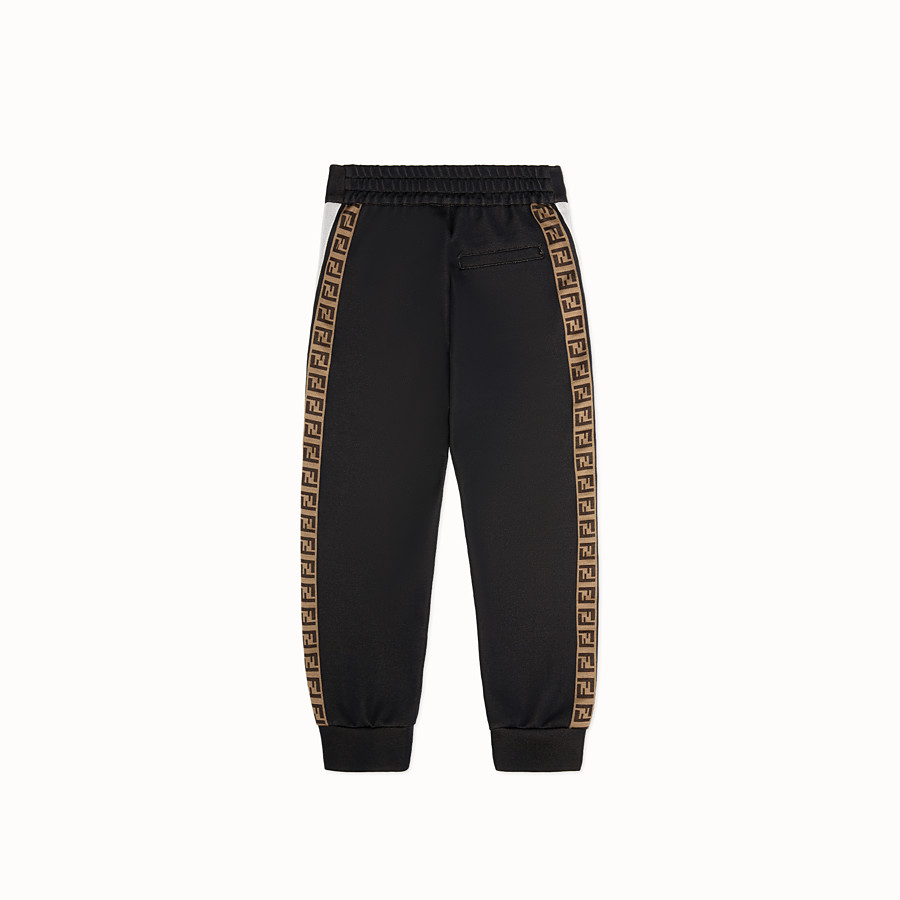 FENDI TROUSERS - Black knit trousers - view 2 detail
