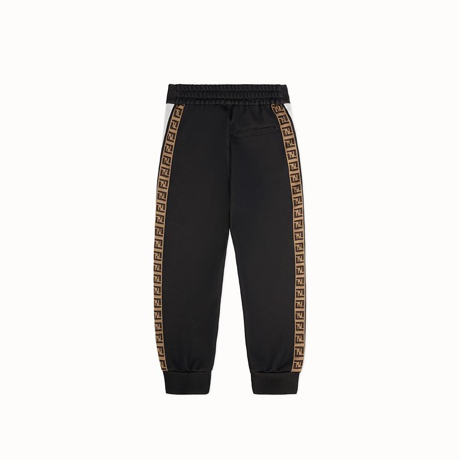 FENDI TROUSERS - Black knit trousers - view 2 detail
