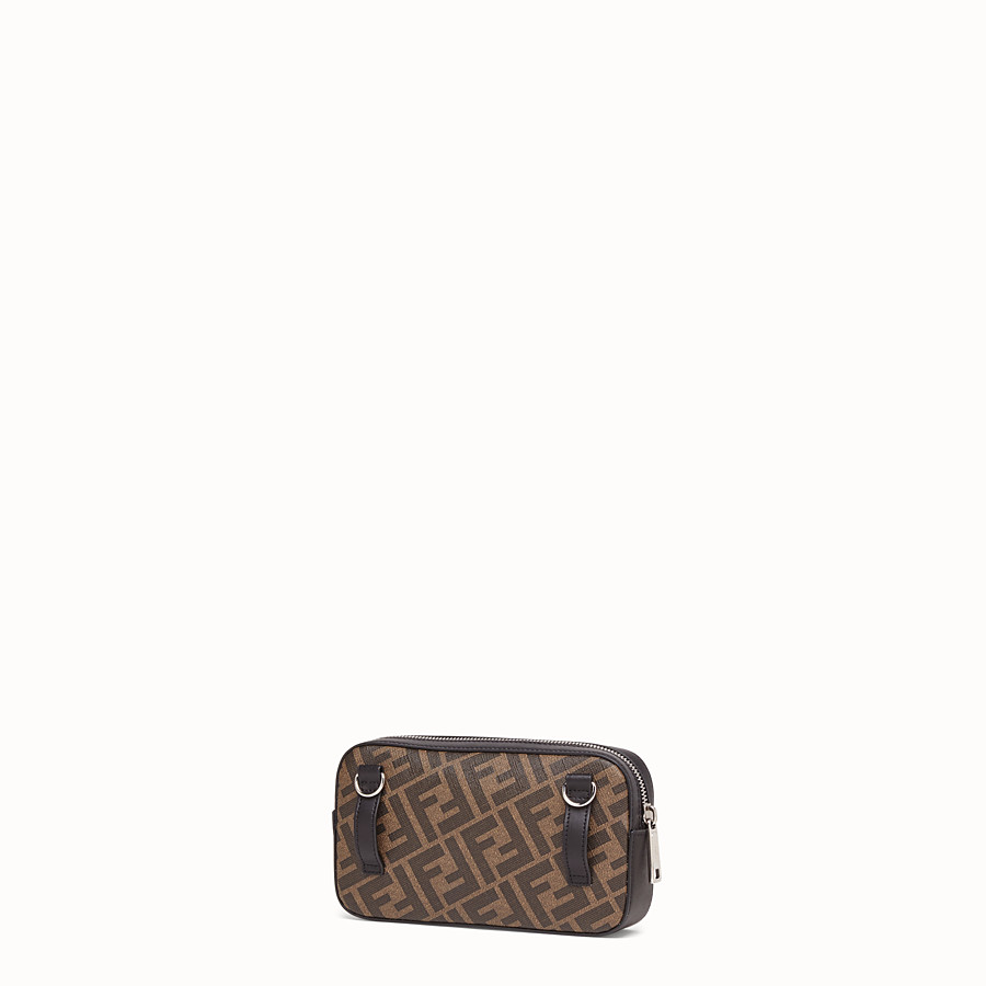 FENDI CAMERA CASE - Brown fabric bag - view 2 detail