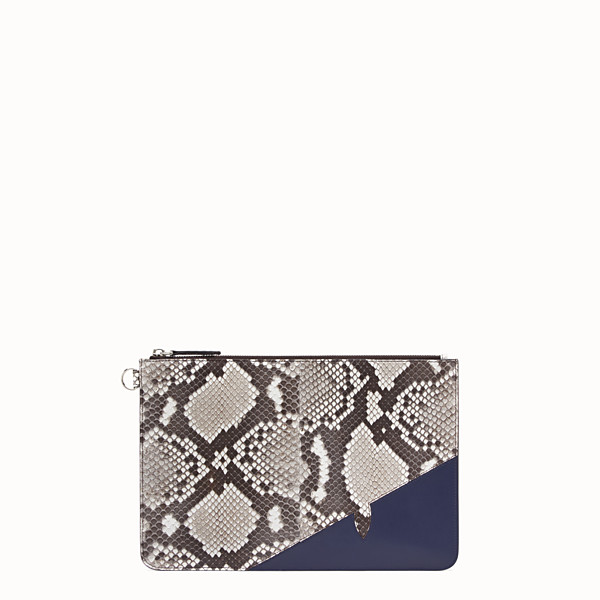 FENDI POUCH - White python pochette - view 1 small thumbnail