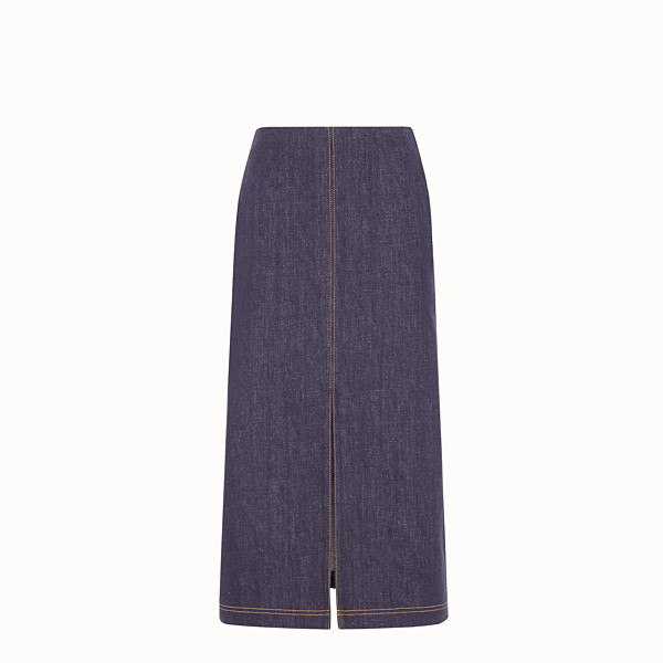 FENDI SKIRT - Blue denim skirt - view 1 small thumbnail