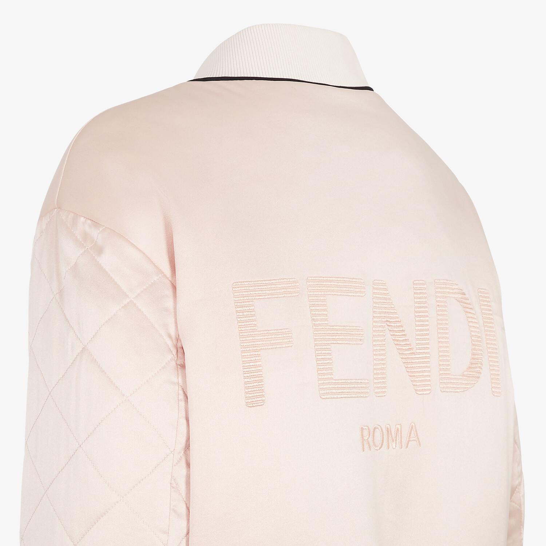 FENDI JACKET - Pink silk bomber jacket - view 3 detail