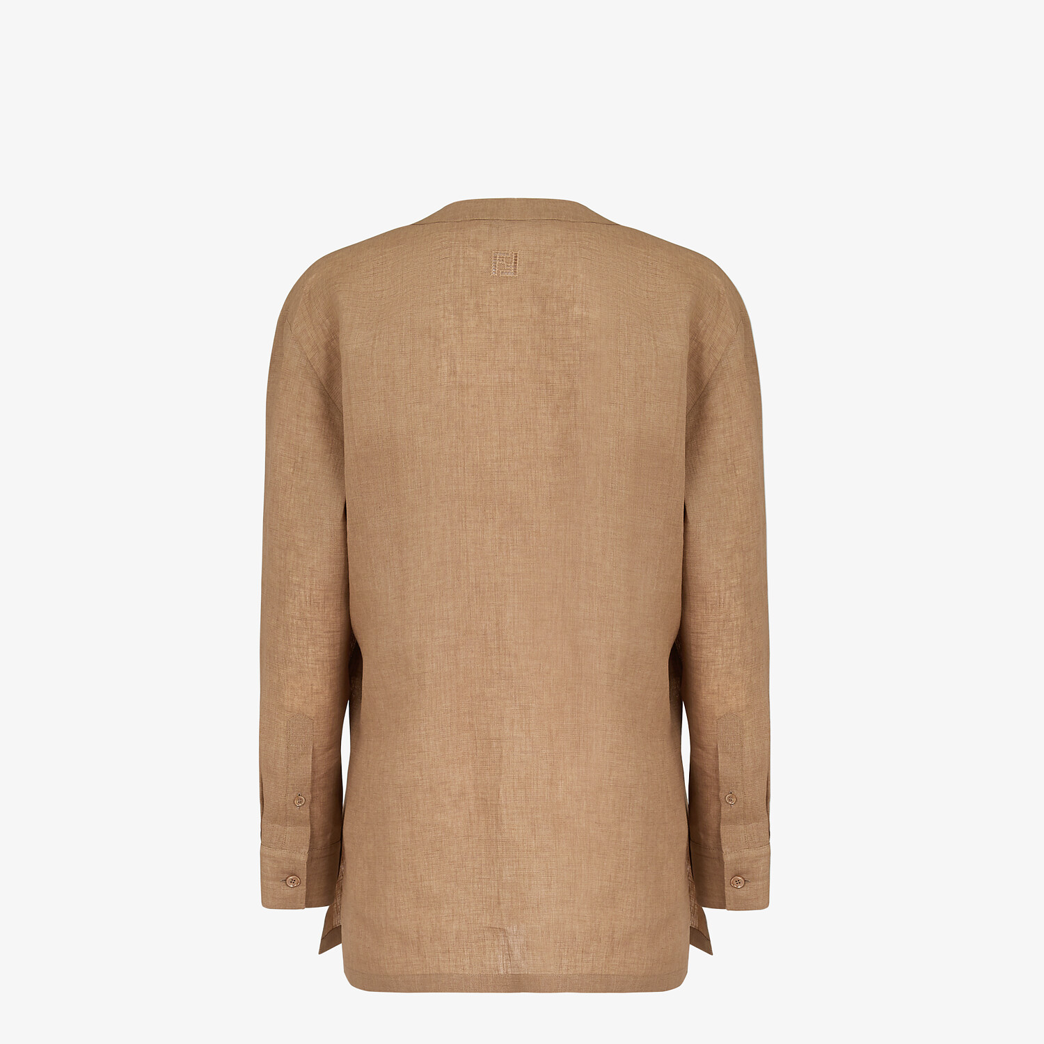 FENDI SHIRT - Beige linen shirt - view 2 detail