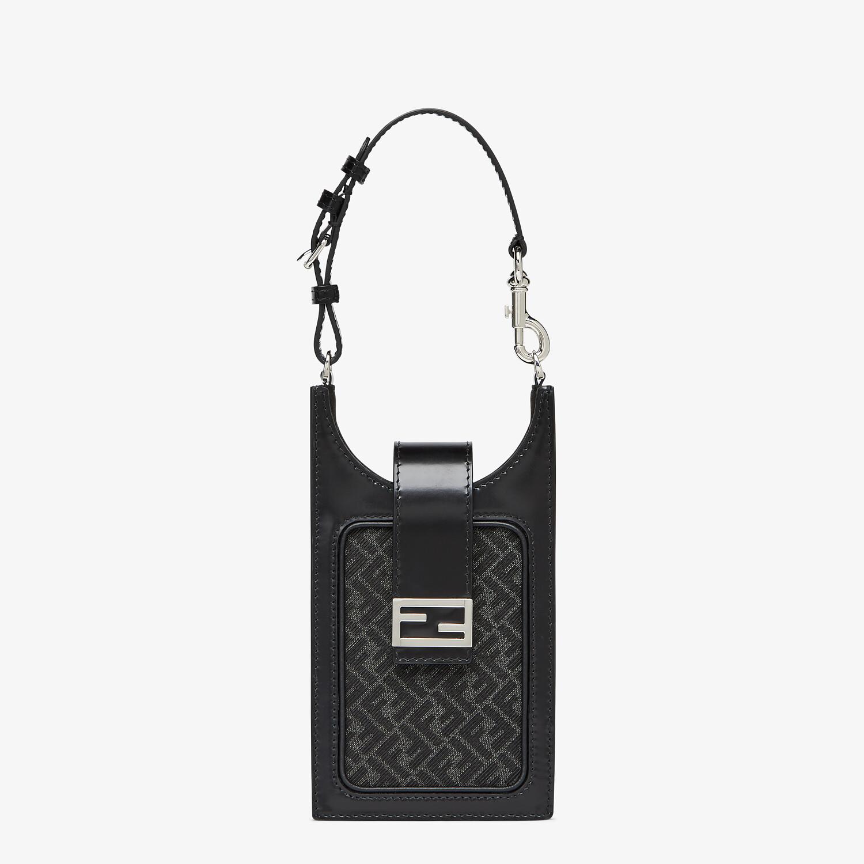 FENDI PHONE BAG - Gray fabric cell phone holder - view 1 detail
