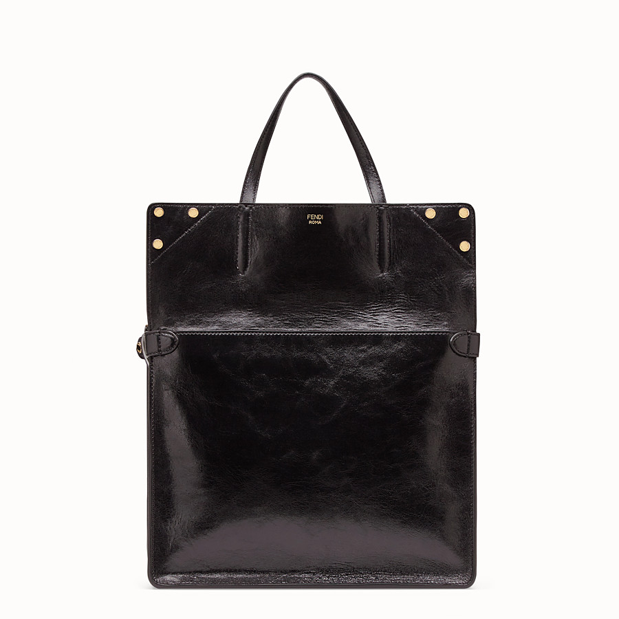 FENDI FENDI FLIP LARGE - Black leather bag - view 3 detail