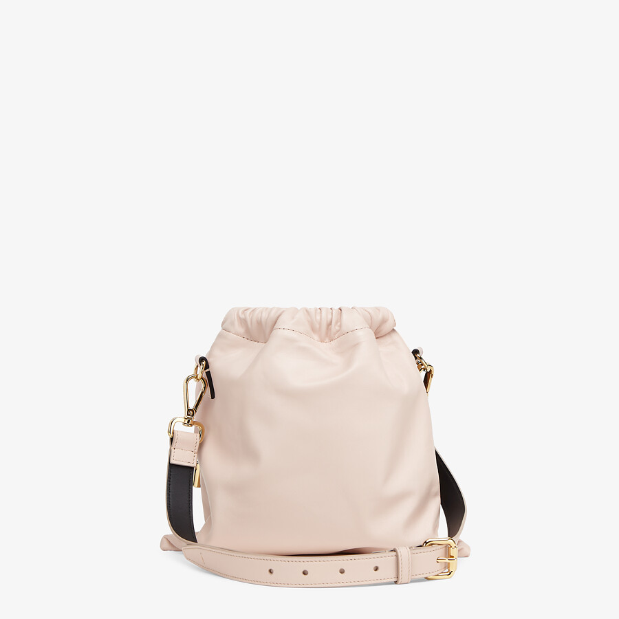 FENDI FENDI PACK SMALL POUCH - Pink nappa leather bag - view 4 detail