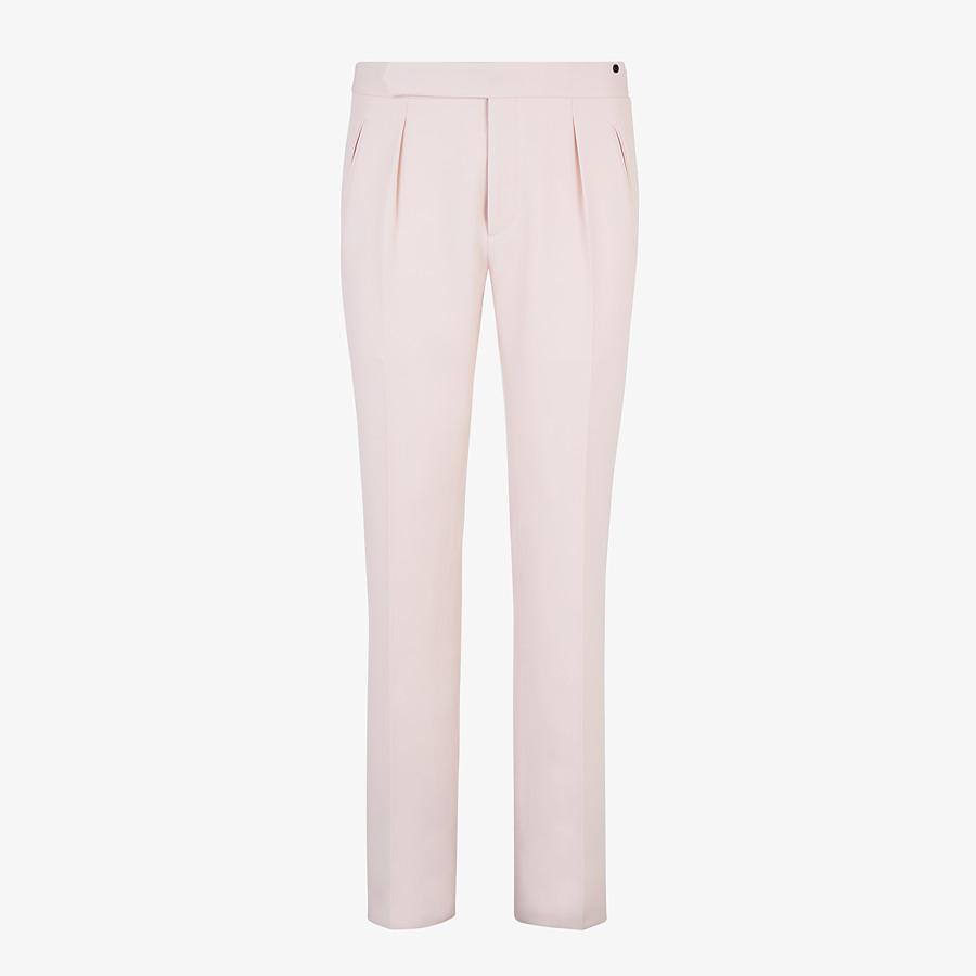 FENDI PANTS - Pink wool pants - view 1 detail