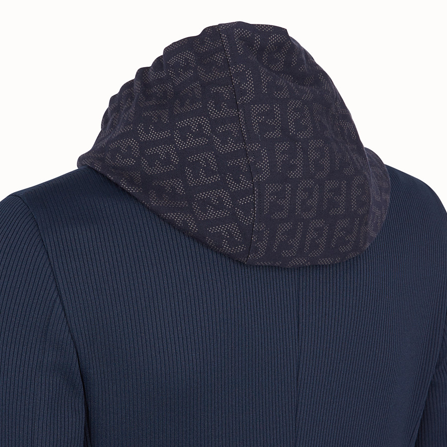 FENDI JACKET - Blue cotton jersey blazer - view 5 detail