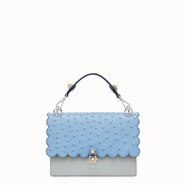 FENDI KAN I - Multicolour leather and ostrich bag - view 1 small thumbnail