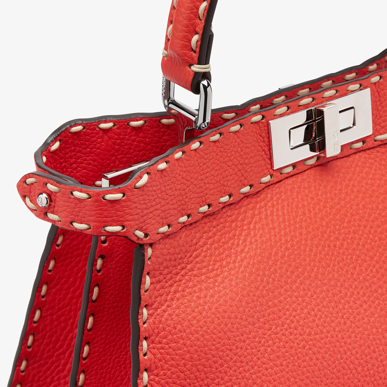 FENDI PEEKABOO ISEEU MEDIUM - Red full grain leather bag - view 7 detail