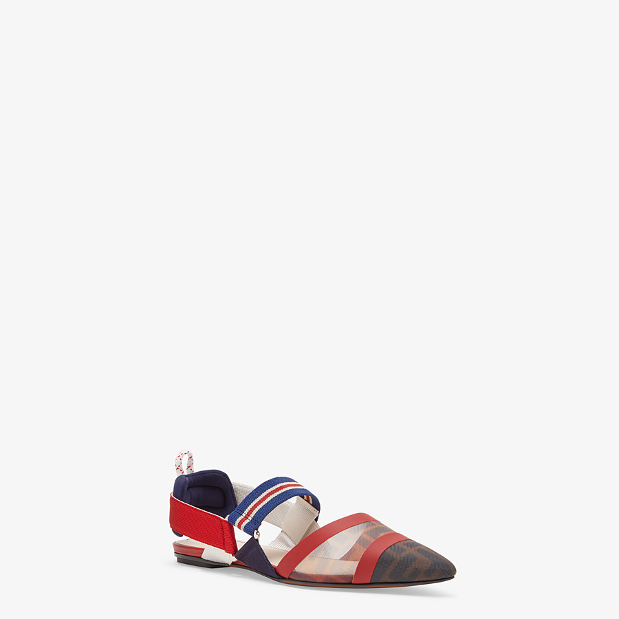 FENDI SLINGBACK - Multicolour technical-mesh colibrì - view 2 detail