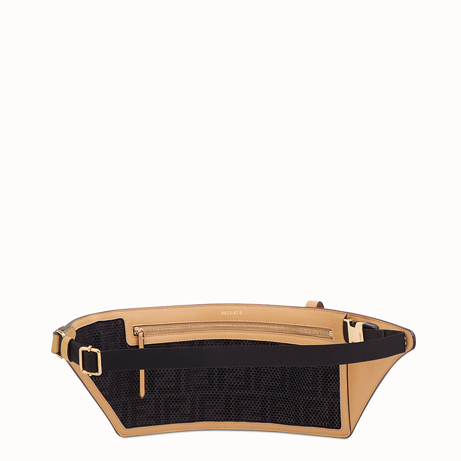 FENDI POCKETS BELT BAG - Brown leather belt bag - view 3 detail