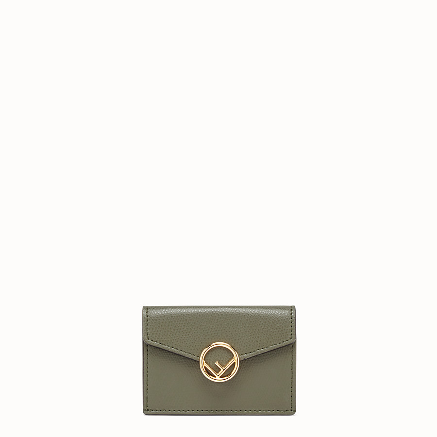 FENDI MICRO TRIFOLD - Green leather wallet - view 1 detail