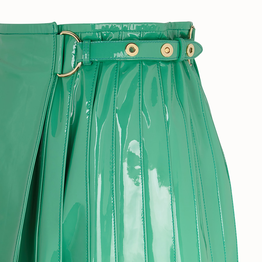 FENDI SKIRT - Green patent leather skirt - view 3 detail