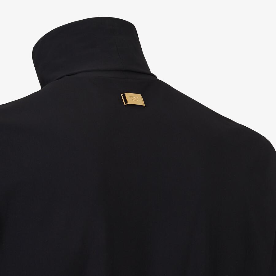 FENDI TURTLENECK - Black jersey jumper - view 3 detail