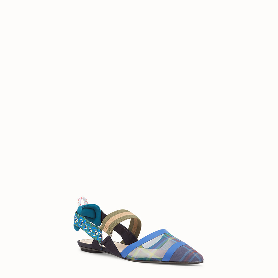 FENDI SLINGBACKS - Multicolour technical mesh sabots - view 2 detail