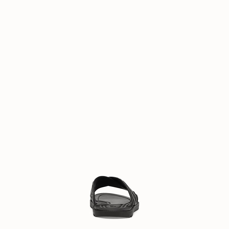 FENDI SANDALO - Slide in pelle nera - vista 3 dettaglio