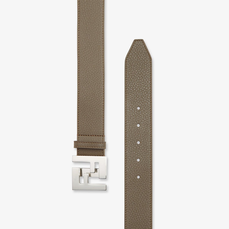 FENDI BELT - Green leather belt - view 2 detail