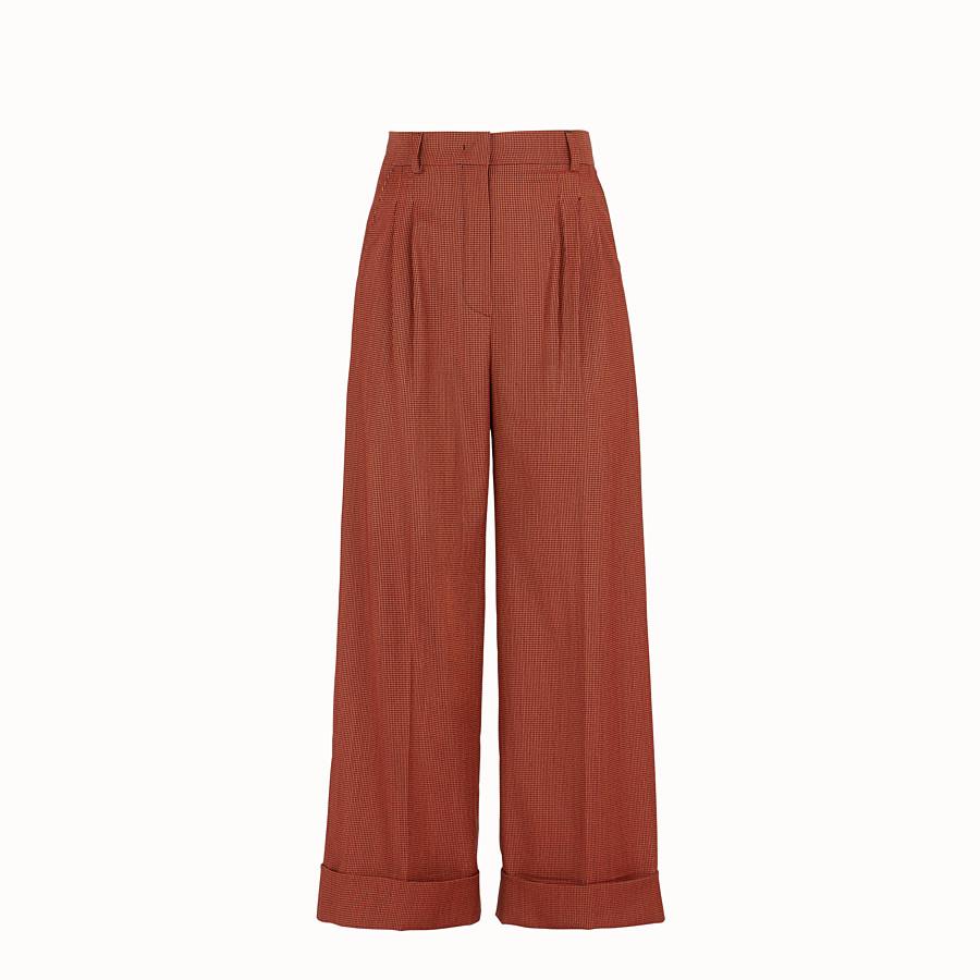 FENDI PANTALON - Pantalon en jacquard orange - view 1 detail