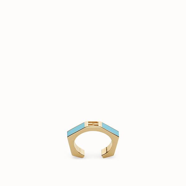 FENDI BAGUETTE RING - Polished turquoise Baguette ring - view 1 small thumbnail