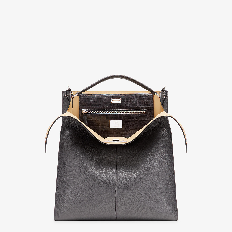 FENDI PEEKABOO X-LITE FIT - Grey leather bag - view 1 detail