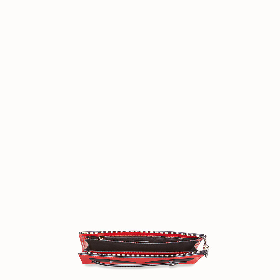 FENDI CLUTCH - Red leather pochette - view 4 detail