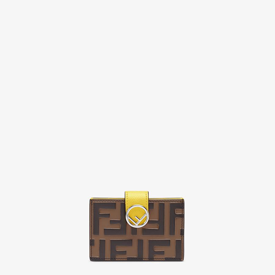 FENDI KARTENETUI - Kartenetui mit Seitenfalten aus Leder in Gelb - view 1 detail