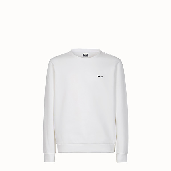 FENDI SWEATSHIRT - White cotton sweater - view 1 small thumbnail