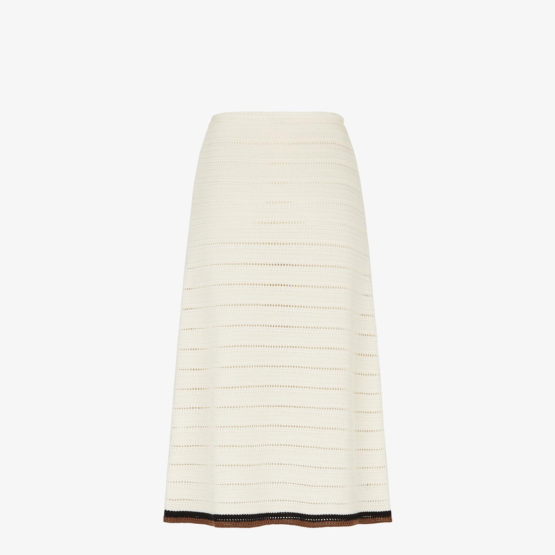 FENDI SKIRT - White cotton skirt - view 2 detail