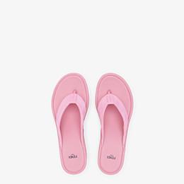 FENDI PLATFORMS - Pink suede Promenades - view 4 thumbnail