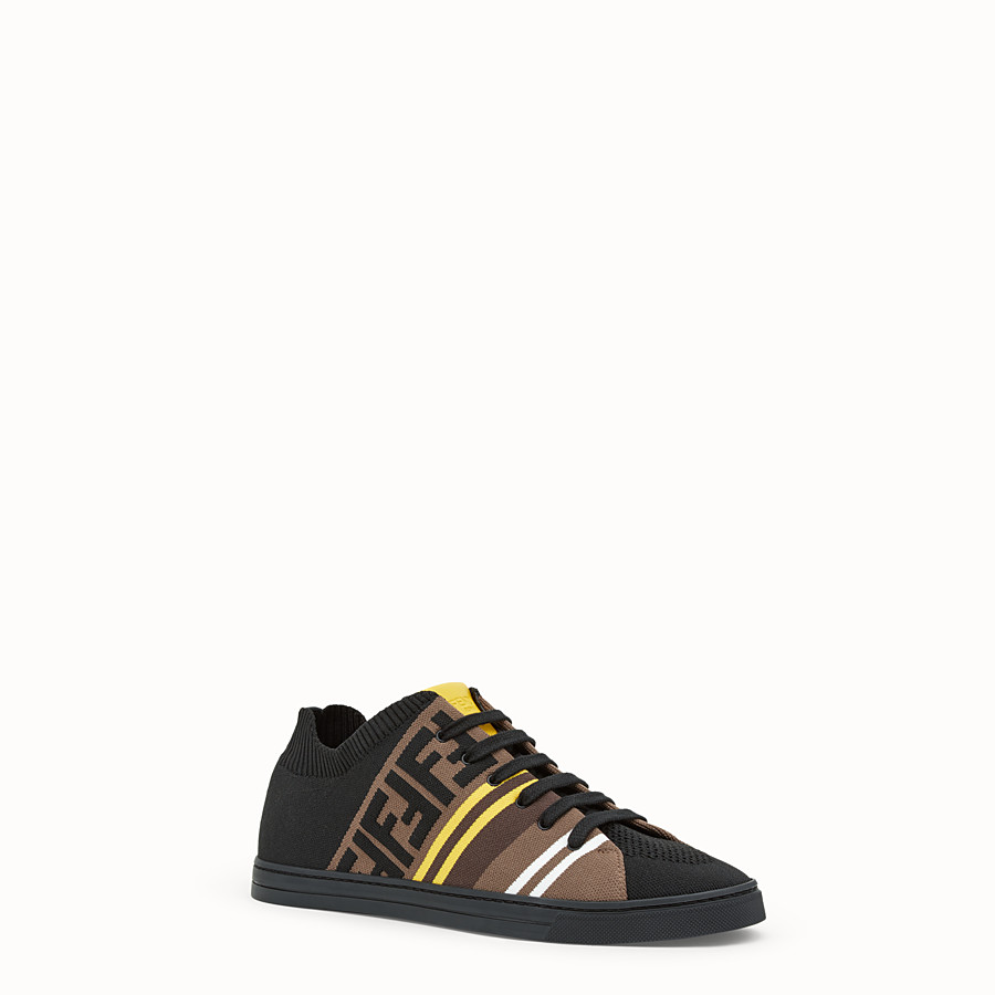FENDI SNEAKERS - Black tech fabric low tops - view 2 detail