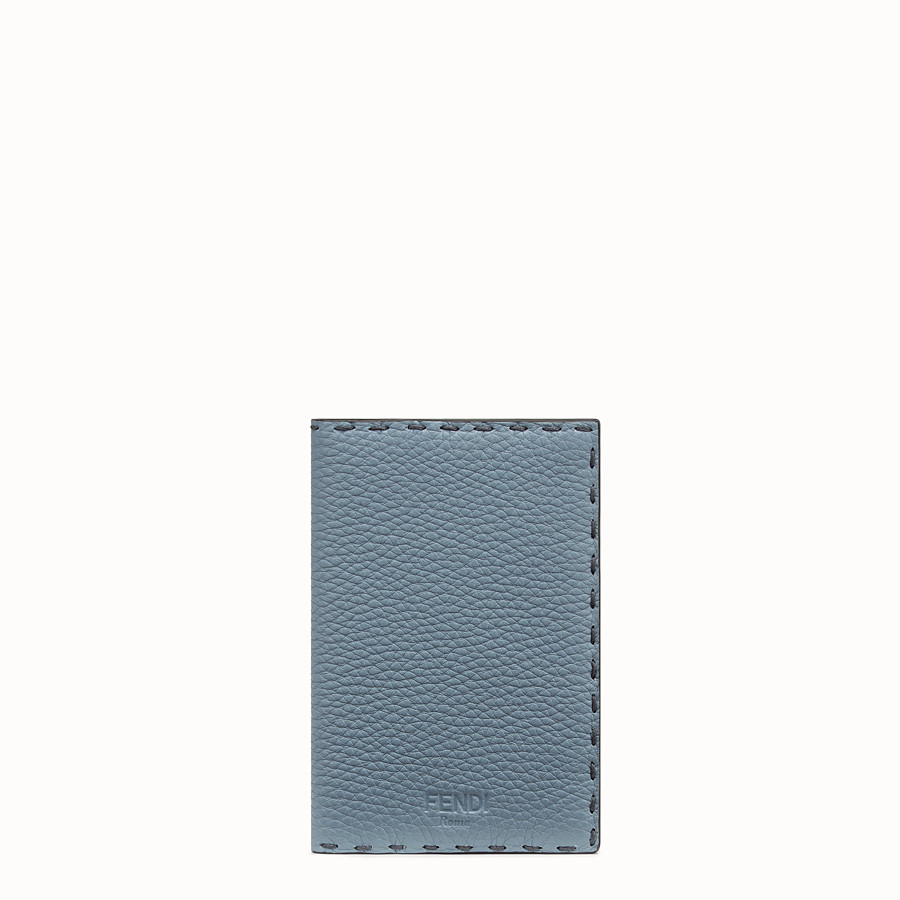 FENDI PASSPORT COVER - Pale blue leather passport cover - view 1 detail