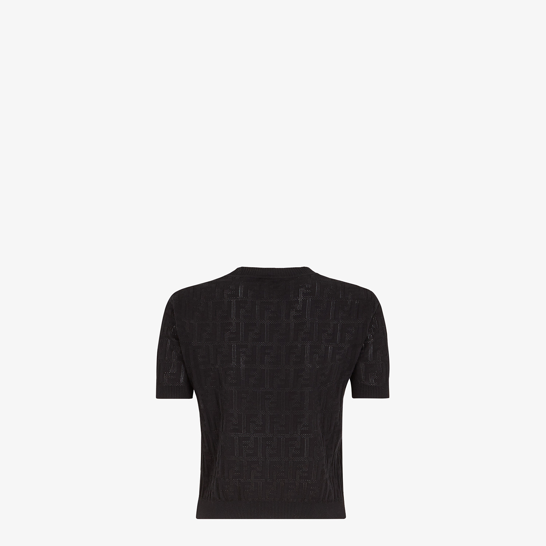 FENDI SWEATER - Black cotton sweater - view 2 detail