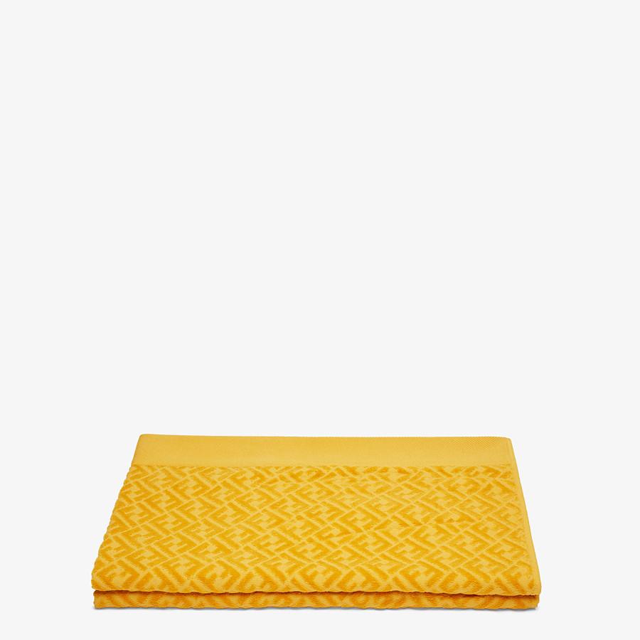 FENDI BEACH TOWEL - Yellow cotton beach towel - view 2 detail