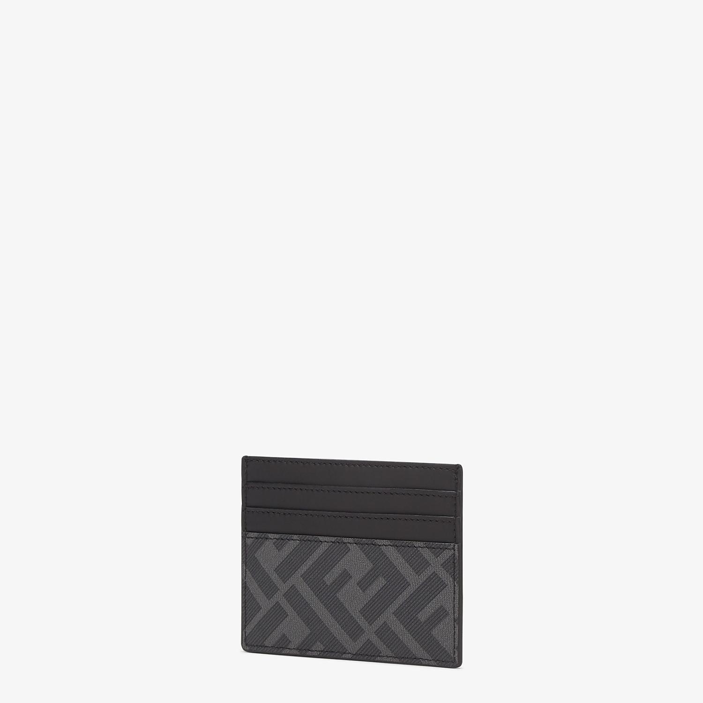 FENDI CARD HOLDER - Gray fabric card holder - view 2 detail