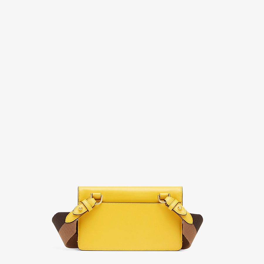 FENDI FLAT BAGUETTE - Yellow leather mini-bag - view 4 detail