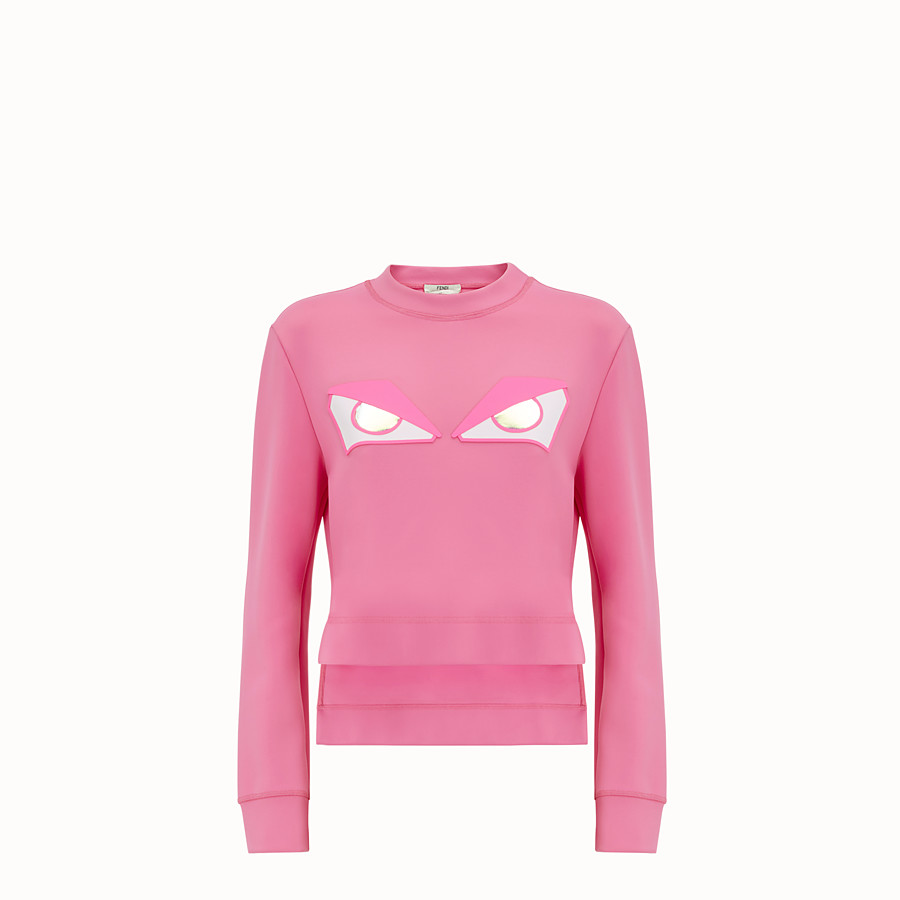 FENDI SWEATSHIRT - Pink fabric sweatshirt - view 1 detail