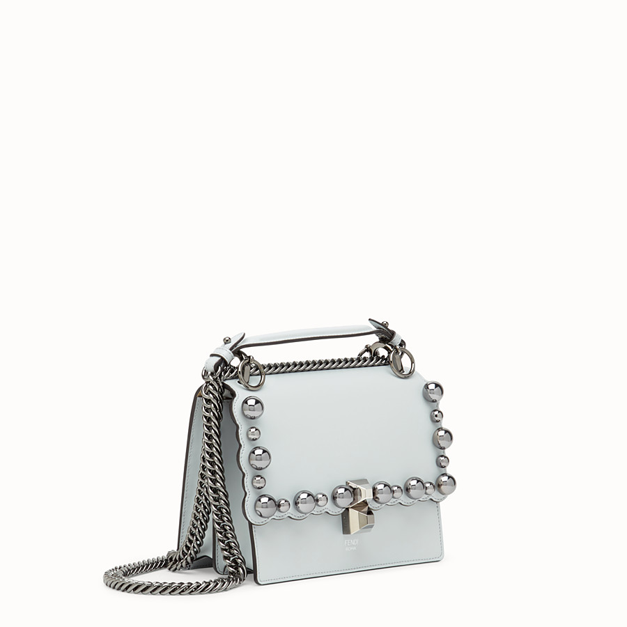 FENDI KAN I SMALL - Grey leather minibag - view 2 detail