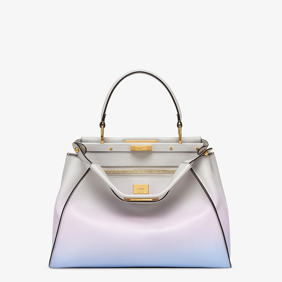 FENDI PEEKABOO ICONIC MEDIUM - Leather bag in graduated colors - view 1 detail