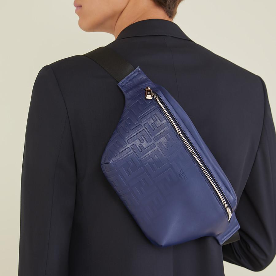 FENDI BELT BAG - Blue calf leather belt bag - view 6 detail