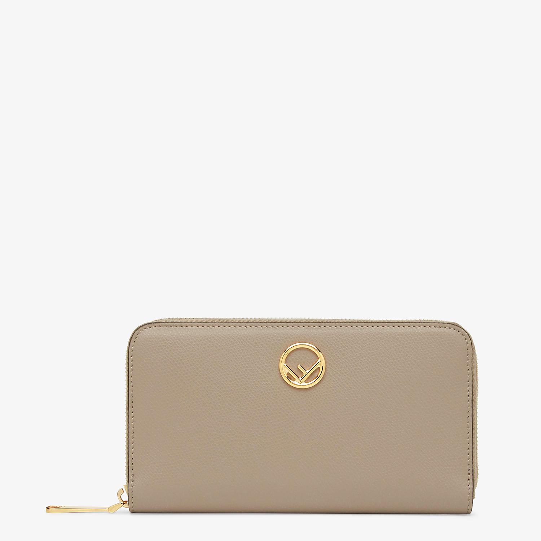 FENDI ZIP-AROUND - Beige leather wallet - view 1 detail