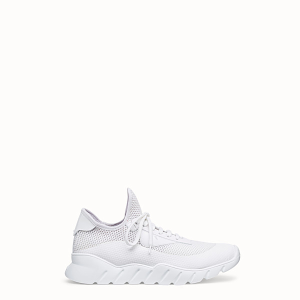 FENDI SNEAKERS - Running shoes in white tech mesh - view 1 small thumbnail