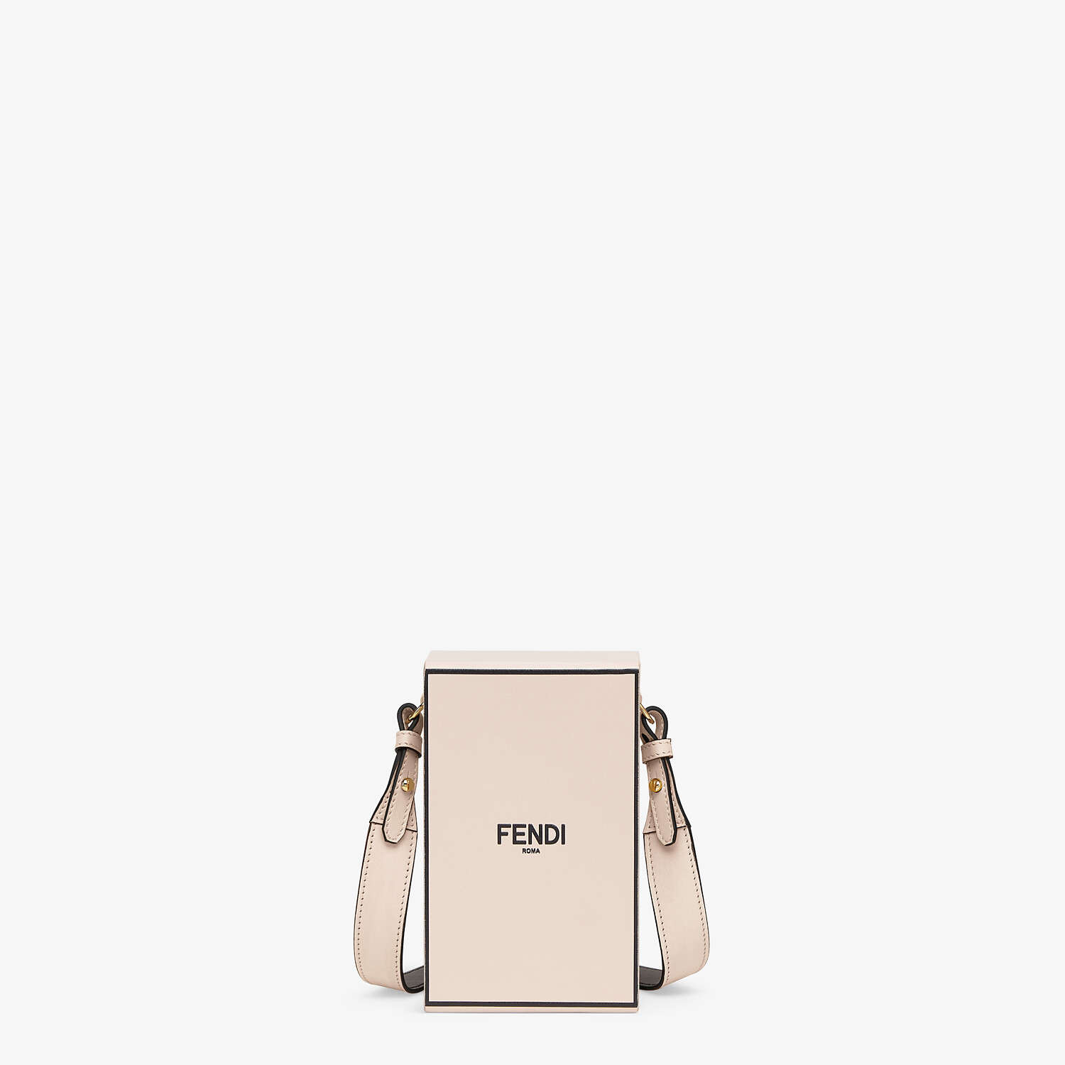 FENDI VERTICAL BOX - Tasche aus Leder in Rosa - view 1 detail